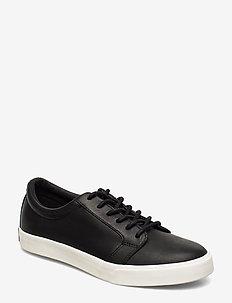 Reaba Leather Sneaker - BLACK