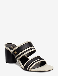 Elmarie Cotton-Linen Sandal - NATURAL/BLACK/BLA