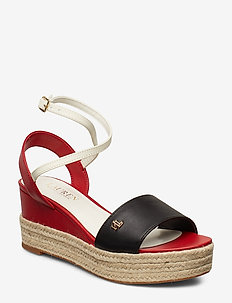 Delores Leather Sandal - BLACK/RL2000 RED/