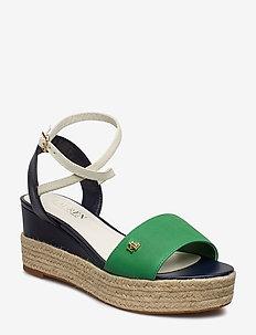 Delores Leather Sandal - SPRNGEMRLD/DK MDN
