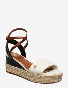 Delores Leather Sandal - VANILLA/BLACK/DEE