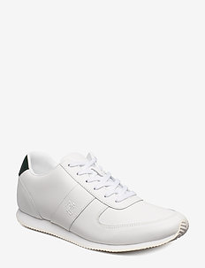 Cate Leather Sneaker - WHITE/LAUREN GREE