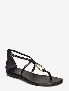 Nanine Leather Sandal - BLACK