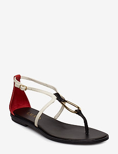 Nanine Leather Sandal - BLACK/VANILLA/RL2
