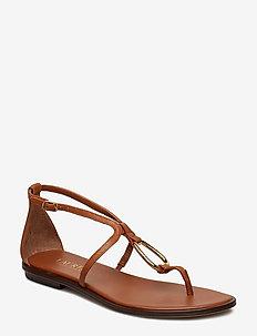 Nanine Leather Sandal - DEEP SADDLE TAN