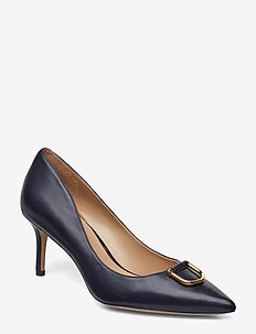 London Leather Pump - LAUREN NAVY