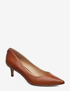 Adrienne Leather Pump - classic pumps - deep saddle tan