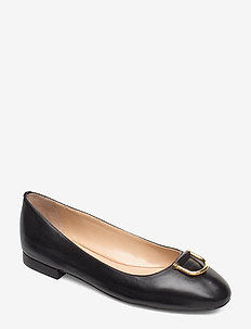 Galyn Leather Flat - BLACK