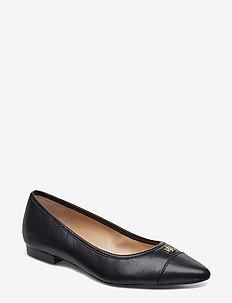 Halena Leather Flat - BLACK