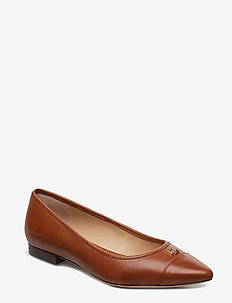 Halena Leather Flat - DEEP SADDLE TAN