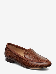 Claire Leather Smoking Slipper - UMBER/UMBER