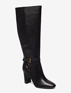 Annesley Leather Boot - BLACK