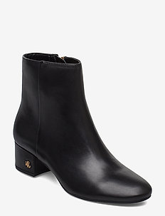 Welford Leather Bootie - BLACK