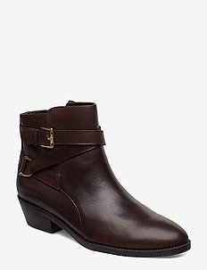Egerton Leather Bootie - CHESTNUT