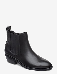 Erica Leather Bootie - BLACK