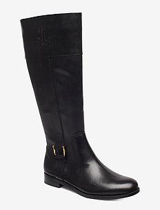 Bernadine Leather Boot - BLACK