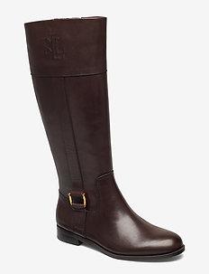 Bernadine Leather Boot - CHESTNUT