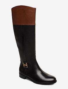 Bernadine Leather Boot - BLACK/MID BROWN