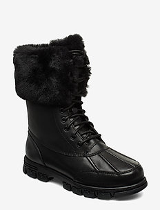 DABNEY-BOOTS-COLD WEATHER - flat ankle boots - black/black