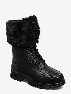 DABNEY-BOOTS-COLD WEATHER - platte enkellaarsjes - black/black