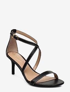 Leaton Leather Sandal - sandales à talons - black