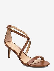 Leaton Leather Sandal - høyhælte sandaler - deep saddle tan