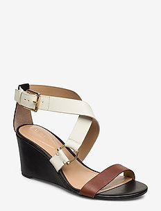 Chadwell Leather Sandal - wedges - deep saddle tan/b
