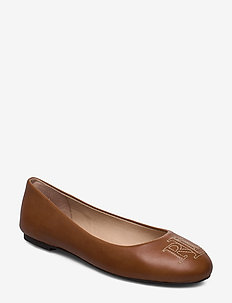 Jamie Leather Flat - DEEP SADDLE TAN