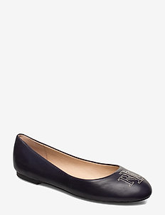 Jamie Leather Flat - LAUREN NAVY