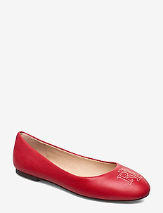Jamie Leather Flat - LAUREN RED