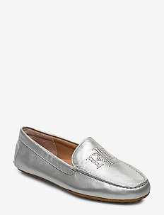 Bartlett Leather Flat - BRIGHT SILVER