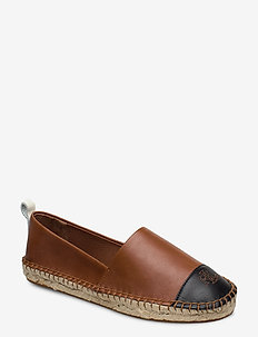 Dorian Leather Espadrille - lage espadrilles - deep saddle tan/b