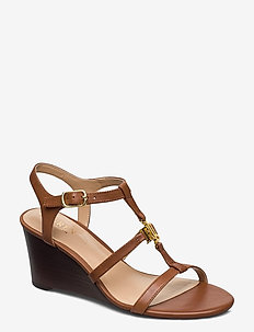 Charlton Leather Sandal - wedges - deep saddle tan