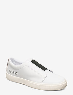 Judith Leather Slip-On Sneaker - RL WHITE/DEEPSADD