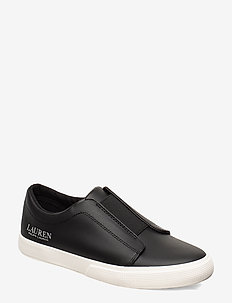 Judith Leather Slip-On Sneaker - BLACK