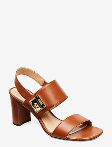 Braidan Leather Sandal - høyhælte sandaler - deep saddle tan