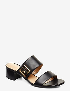 Windham Leather Sandal - heeled sandals - black