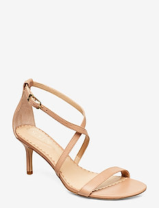 Leaton Leather Sandal - sandały na obcasie - nude