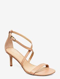 Leaton Leather Sandal - høyhælte sandaler - nude