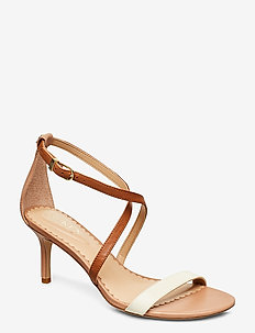 Leaton Leather Sandal - heeled sandals - nude/vanilla/deep