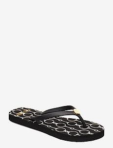 Shawna Chain-Link Sandal - BLACK