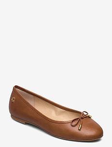 Jayna Leather Flat - ballerinasko - deep saddle tan