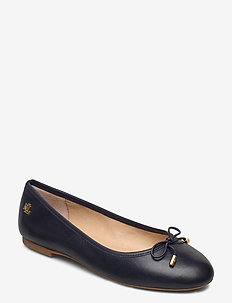 Jayna Leather Flat - ballerinasko - lauren navy