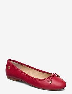 Jayna Leather Flat - ballerinasko - lauren red