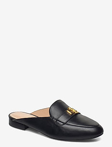 Leather Slip-On Loafer - mules & slipins - black