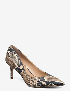 Lanette Print Leather Pump - classic pumps - nude