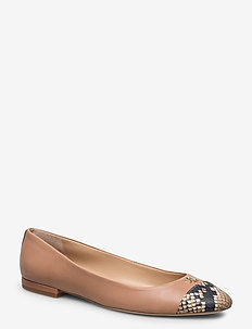 Gaines Leather Flat - ballerinas - nude/nude