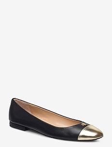 Gaines Leather Flat - ballerinas - black/pale gold