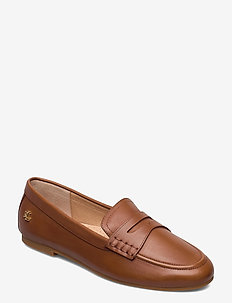 Adison Burnished Leather Loafer - loafers - deep saddle tan