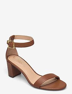 Waverli Nappa Leather Sandal - högklackade sandaler - deep saddle tan